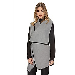 Quiz - Grey Buckle Waterfall Cardigan