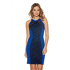 Quiz - Royal Blue Lace Front Panel Bodycon Dress