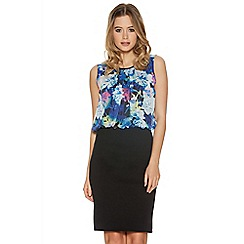 Quiz - Multi Colour Floral Print Bubble Top Dress