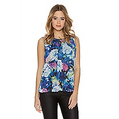 Quiz - Multi Coloured Flower Bubble Top