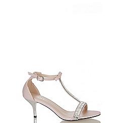 Quiz - Pink Shimmer T-Bar Sandals