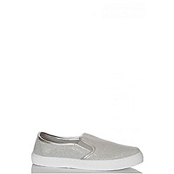 Quiz - Silver Shimmer Skater Trainers