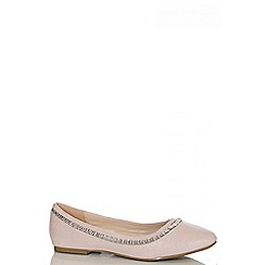 Quiz - Pink Shimmer Jewel Pumps