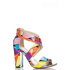 Quiz - Balloon Strap Block Heel Shoes