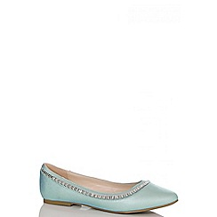 Quiz - Mint Shimmer Jewel Pumps