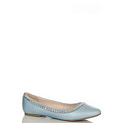 Quiz - Blue Shimmer Jewel Pumps