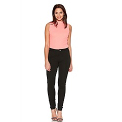 Quiz - Black Stretch Skinny High Waisted Trousers