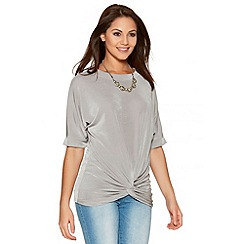 Quiz - Silver Slinky Batwing Necklace Top
