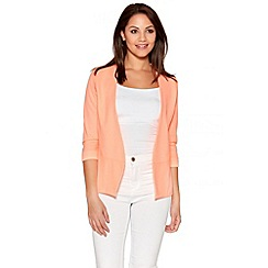 Quiz - Coral 3/4 Sleeve Turn Up Jacket