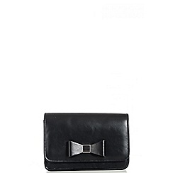 Quiz - Black PU Bow Bag