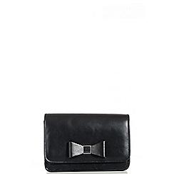 Quiz - Black PU Bow Bag