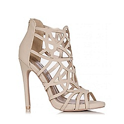 Quiz - Nude Cage Cut Out Heel Sandal