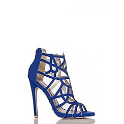 Quiz - Blue Cage Cut Out Heel Sandal
