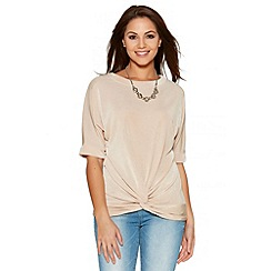 Quiz - Stone Slinky Batwing Necklace Top