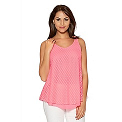Quiz - Hot Pink Lace Bubble Swing Top