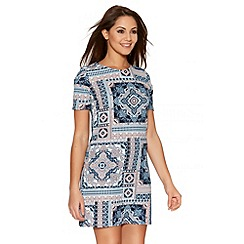 Quiz - Multicoloured Tile Print Tunic Dress