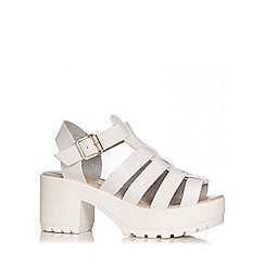 Quiz - White Chunky Gladiator Strap Sandals