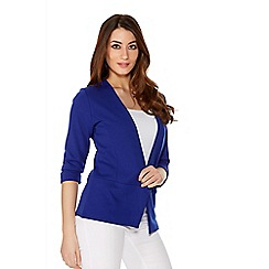 Quiz - Royal Blue 3/4 Sleeve Turn Up Jacket