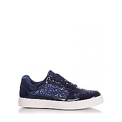 Quiz - Blue Glitter Lace Skater Trainers