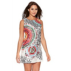 Quiz - Multicoloured Abstract Print Tunic Dress