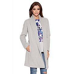 Quiz - Grey Fleece Long Sleeve Jacket