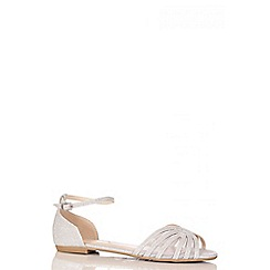 Quiz - Silver Shimmer Mesh Flat Sandals