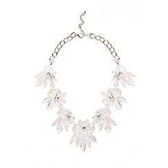 Quiz - Jewel Flower Statement Necklace