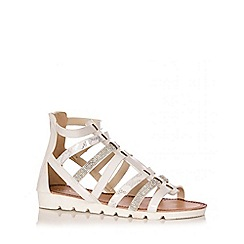 Quiz - White Snake Strappy Chunky Sandals