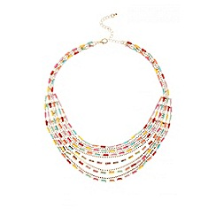 Quiz - Multicoloured Strand Layered Necklace
