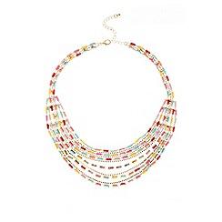 Quiz - Multicoloured Strand Layered Necklace