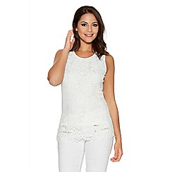 Quiz - White Lace Bow Back Sleeveless Top