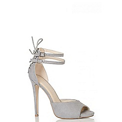 Quiz - Grey Strap Tie Back Heel Sandals