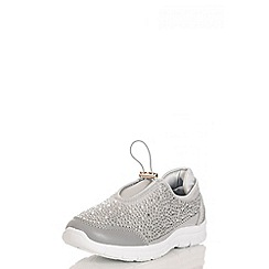 Quiz - Silver Tie String Trainers