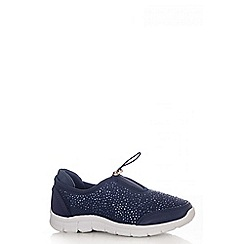 Quiz - Navy Tie String Trainers