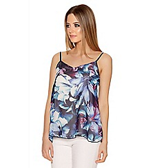 Quiz - Multicoloured Chiffon Tropical Print Cami Top