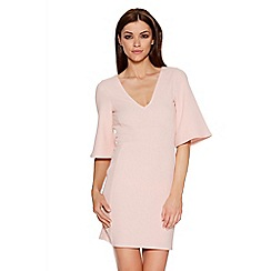 Quiz - Blush Pink Open Tie Back Dress