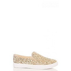 Quiz - Gold Glitter Skater Trainers