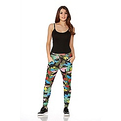Quiz - Multicolour Camouflage Jogging Trousers