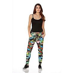 Quiz - Multicolour Camouflage Jogging Trousers