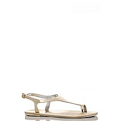 Quiz - Gold Toe Ring Jelly Flat Sandals