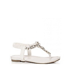 Quiz - Pearl And Diamante Strap Sandals