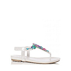 Quiz - Multi Colour Jewel Strap Sandals