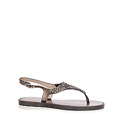 Quiz - Black Facet Jelly Sandals