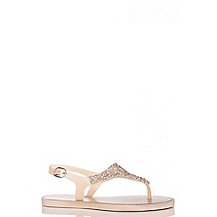 Quiz - Gold Facet Jelly Sandals