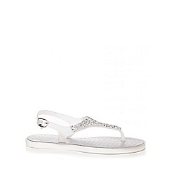 Quiz - Silver Facet Jelly Sandals