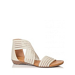 Quiz - Beige Stretch Mesh Strap Sandals