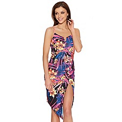 Quiz - Multicoloured Tropical Print Bodycon Dress