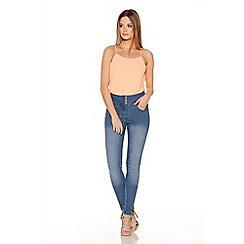 Quiz - Blue Denim Skinny Leg Stretch Trousers