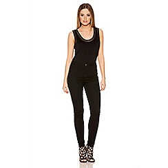 Quiz - Black Denim Skinny High Waisted Jeans