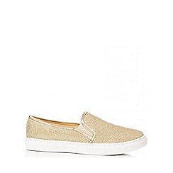 Quiz - Gold Shimmer Skater Trainers